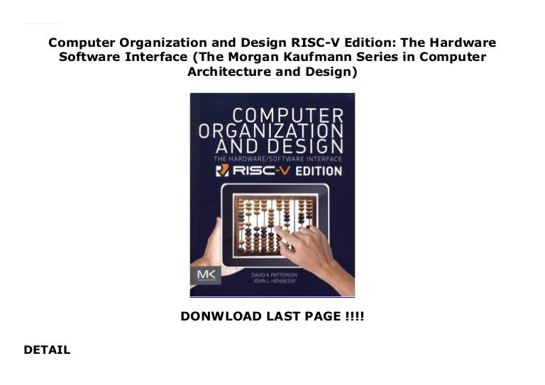 Computer Organization And Design Risc V Edition The Hardware Softwar