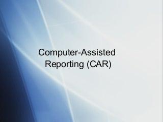 Computer-assisted reporting seminar for StatsCan