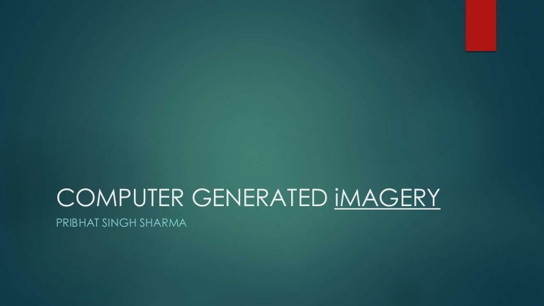 computer generated imagery examples