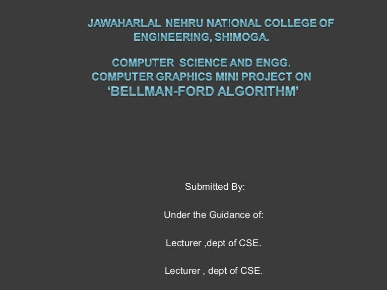 Line Drawing Algorithm Using Opengl : Computer graphics mini project on bellman ford algorithm