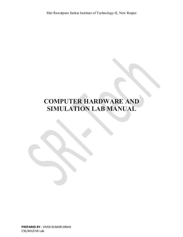 Computer hardware and simulation lab manual