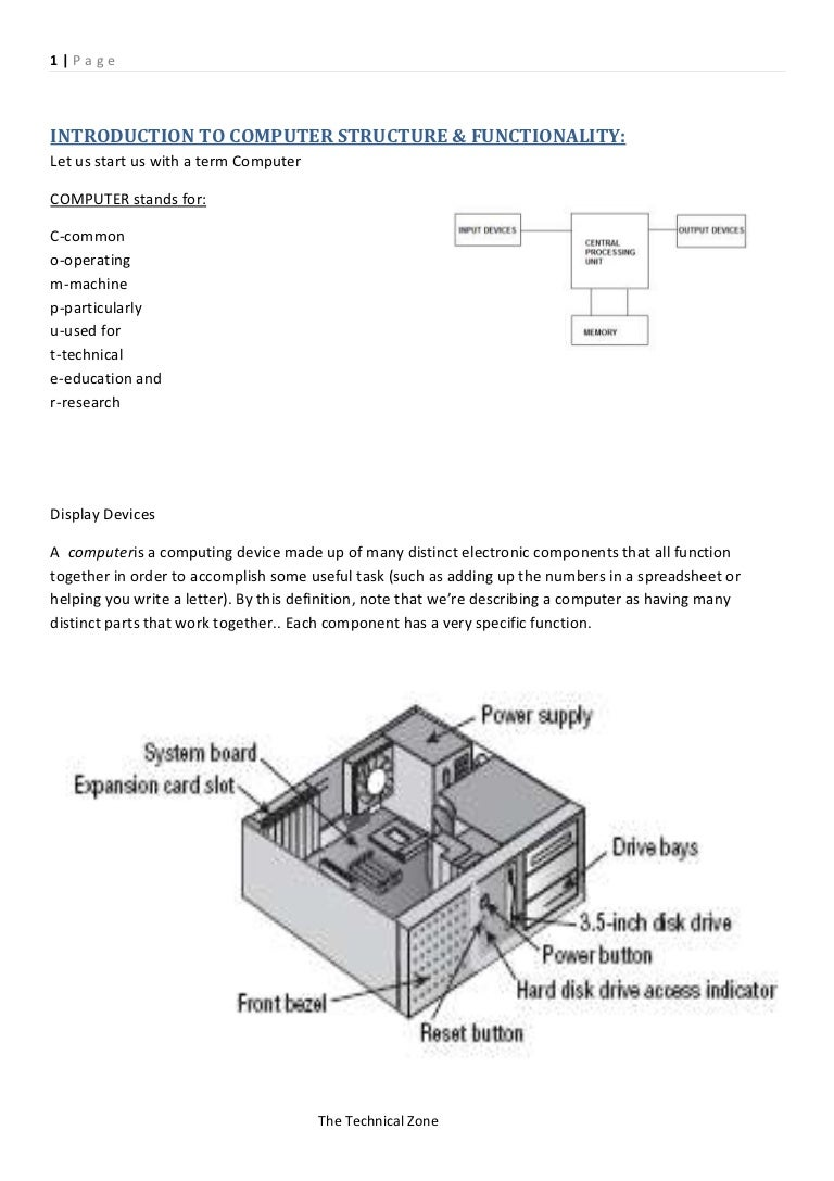 Computer Mouse Diagram Figure Components Harware Complete Notes