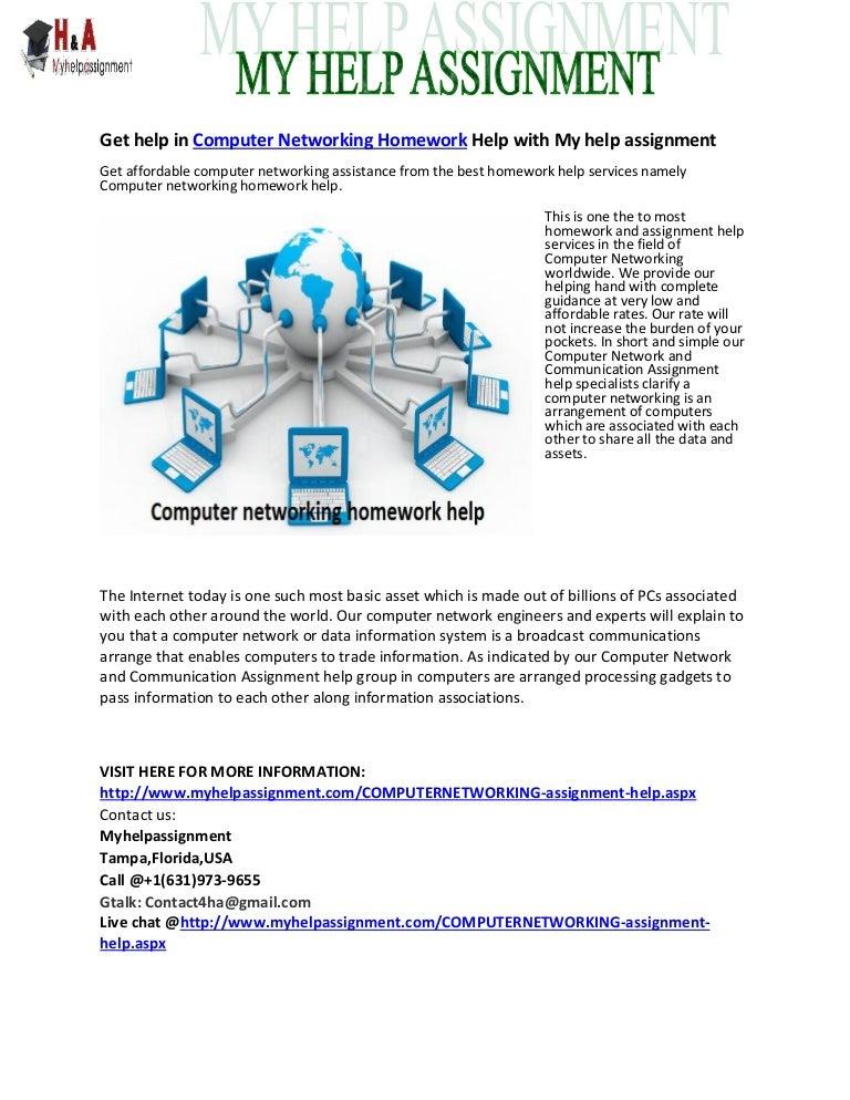 Computer networking homework help
