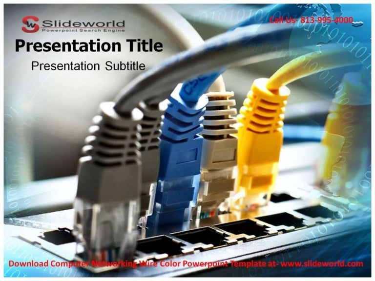 Computer networking wire color powerpoint templates toneelgroepblik Choice Image