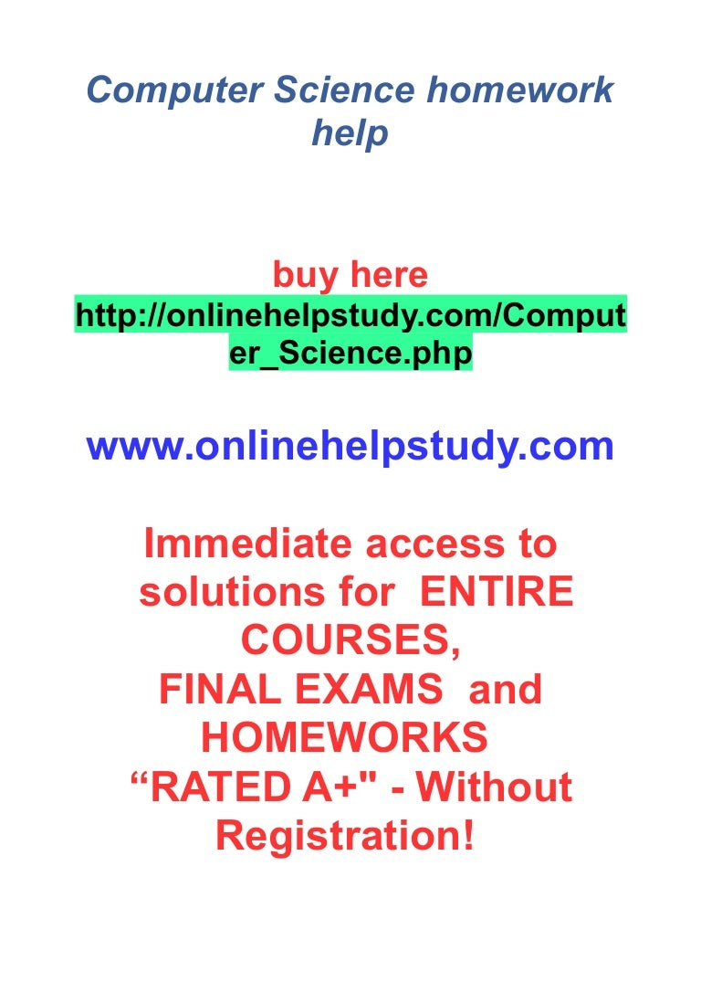 Homework help in computer science