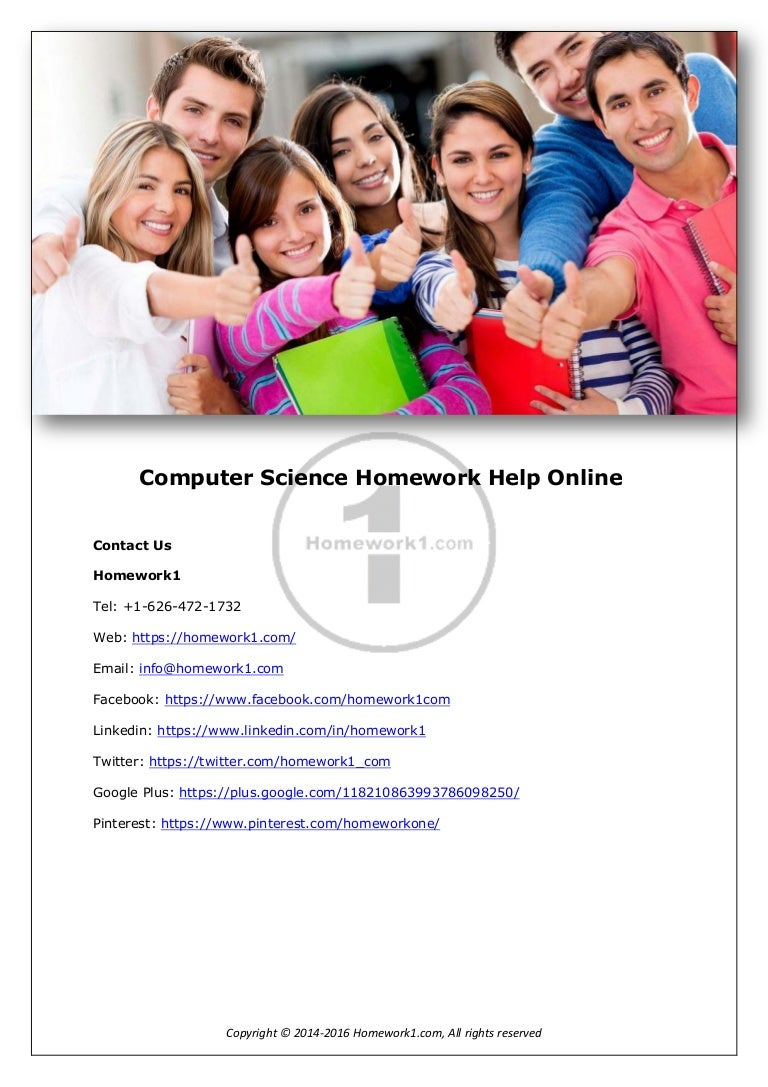 Computer Science Homework Help | Do My Computer Science Homework