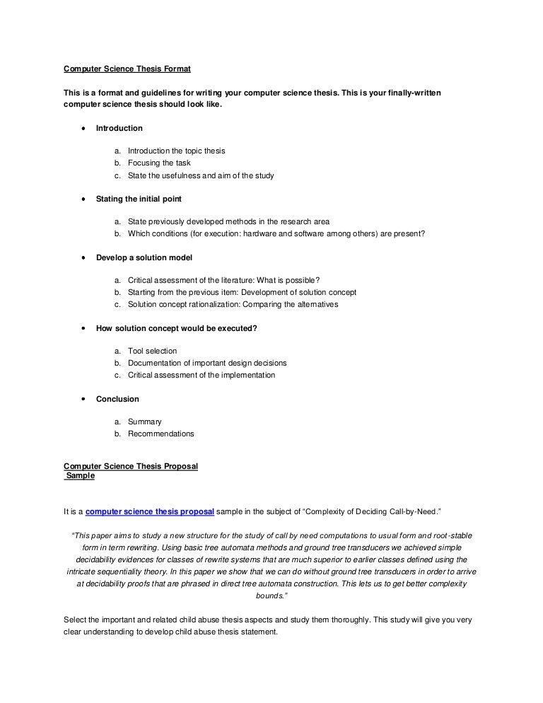 bscs thesis topics