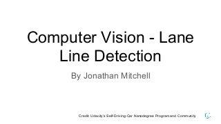 Computer vision lane line detection