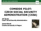 Comsode pilot -  Czech Social Security Administration