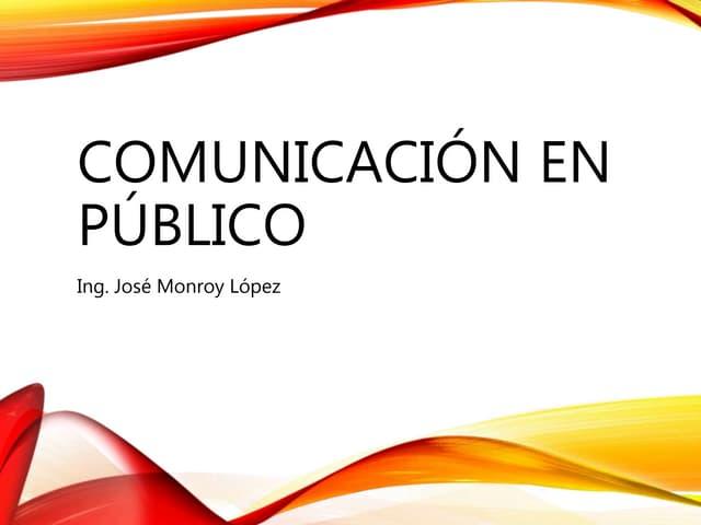 Comunicación en público