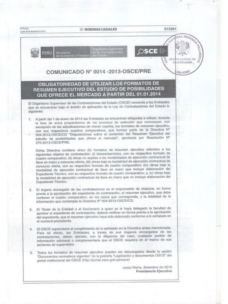 Fantastisch Formato De Resumn Ejecutivo Osce 2014 Ideen ...