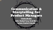Comunication & Storytelling for Product Managers (and anyone else)
