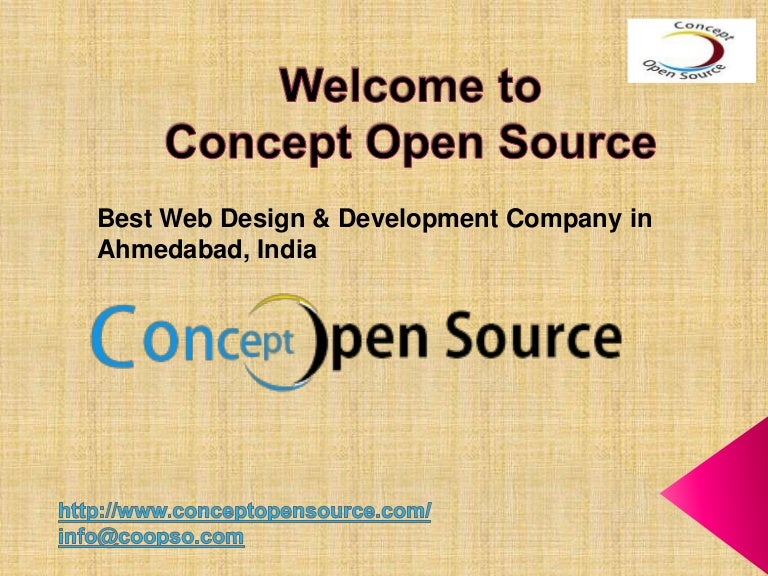 Concept Open Source Best Web Design Development Company India