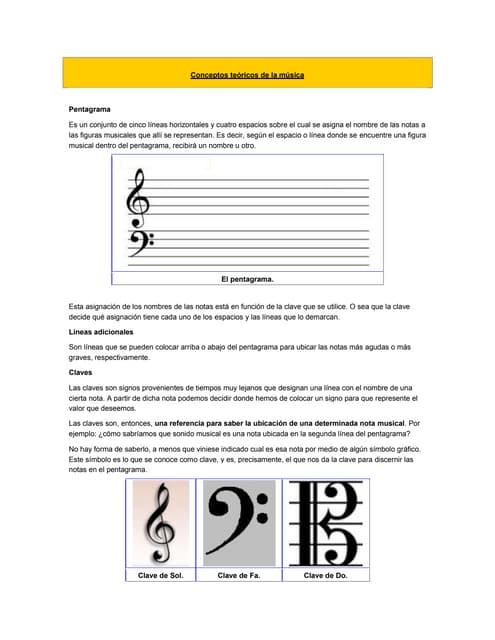 Conceptos teóricos de la música