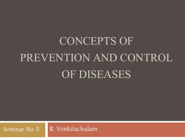 Concepts of prevention and control of diseases fandeluxe Images