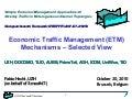 Economic Traffic Management (ETM) Mechanisms – Selected View