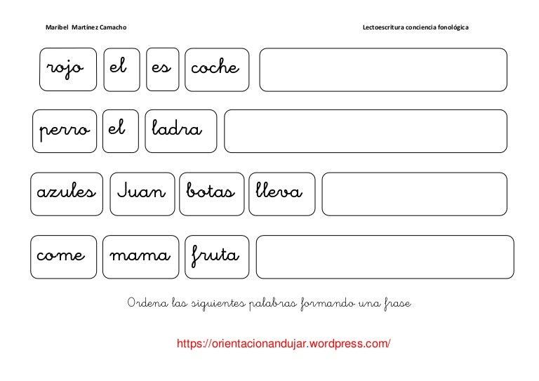 Frases Acerca De La Escritura: Conciencia Fonologica-de-frases-1