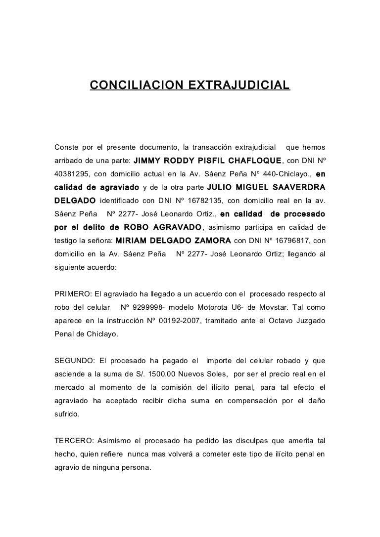 Conciliacion extrajudicial jrpch for Clausula suelo y acuerdo extrajudicial