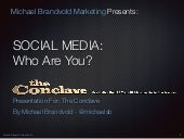 Social Media: Who Are You?