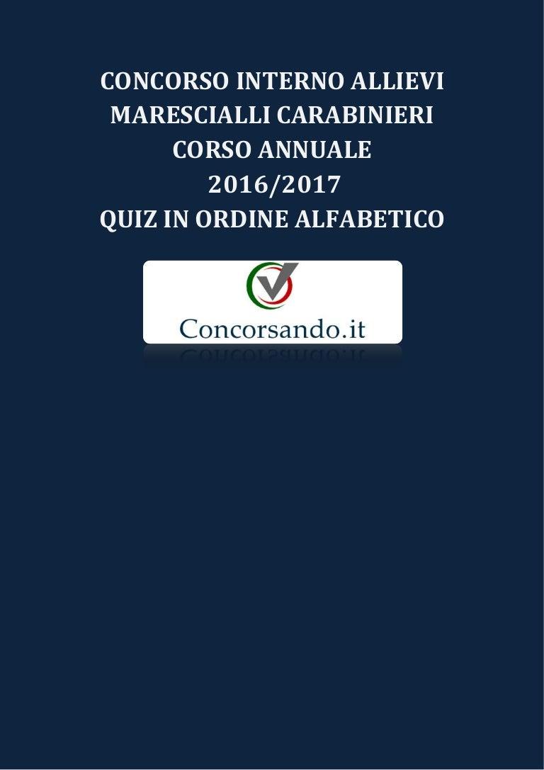 Concorso Allievi Marescialli Carabinieri 14 Corso Annuale 20162017