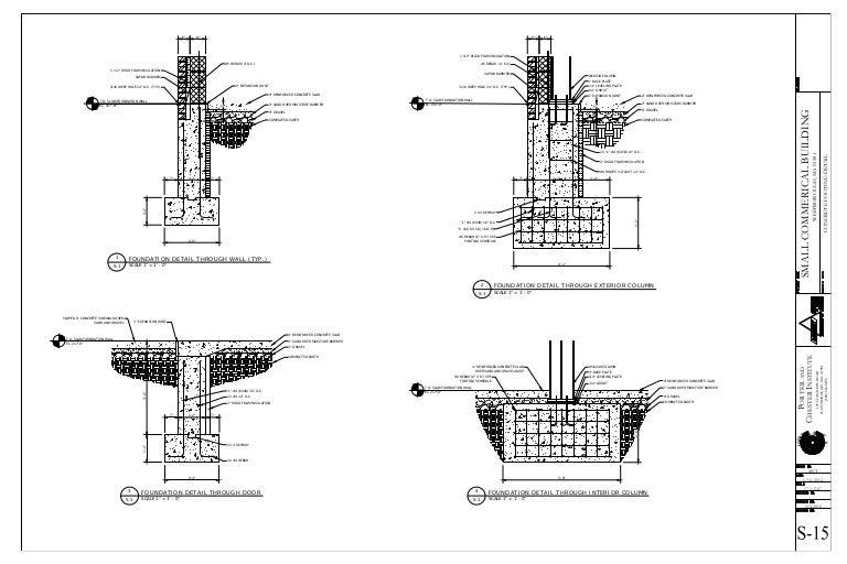 concrete footing details. Black Bedroom Furniture Sets. Home Design Ideas
