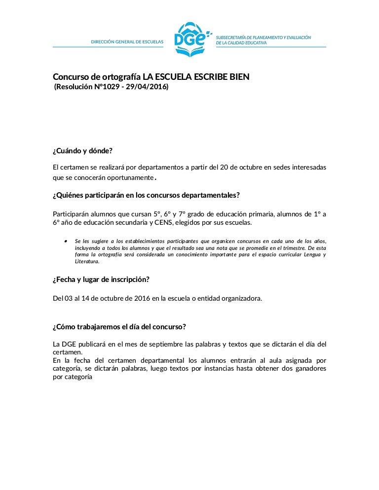 Concurso De Ortograf U00eda  La Escuela Escribe Bien