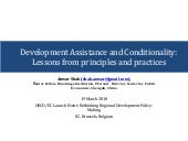 Development assistance and conditionality