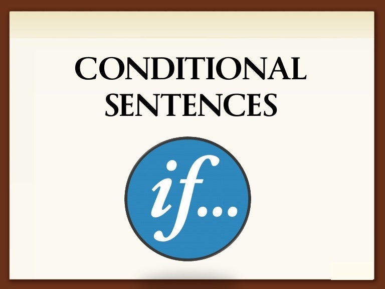 Conditional Sentences Grammar