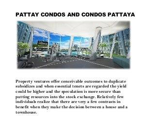 Condo Pattaya, Pattaya Condos, Condos In Pattaya