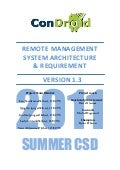 Condroid  Remote Management - System Architecture & Requirement