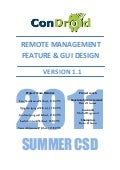Condroid Remote Management - Feature & GUI Design