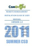 Condroid Remote Management - Installation guide and User Manual