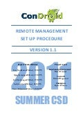 Condroid Remote Management Work Procedure