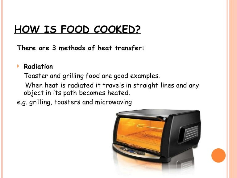 Cooking Methods – Conduction Convection and Radiation Worksheet