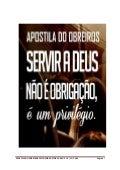 APOSTILA DO OBREIRO NO SERVIR A DEUS
