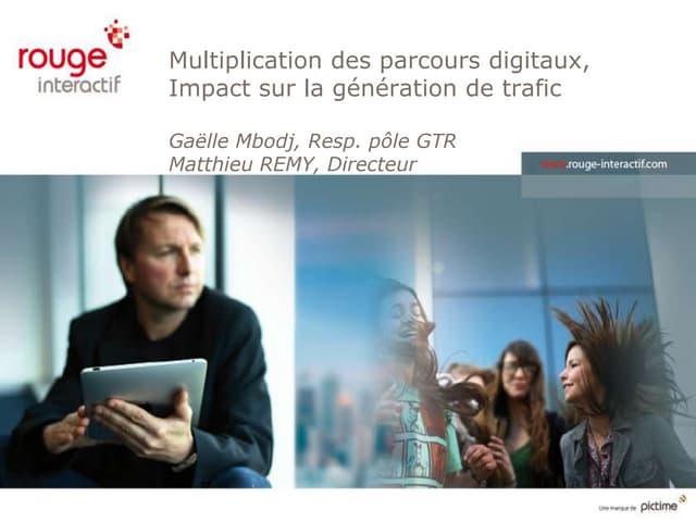 Présentation Conférence : Complexification des parcours digitaux : comment construire sa stratégie d'acquisition de trafic