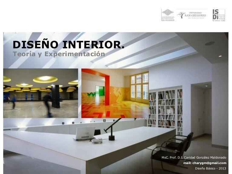 diseÑo interior. teoría y experimentación