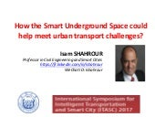 How the Smart Underground Space could help meet urban transport challenges?, ITASC 2017