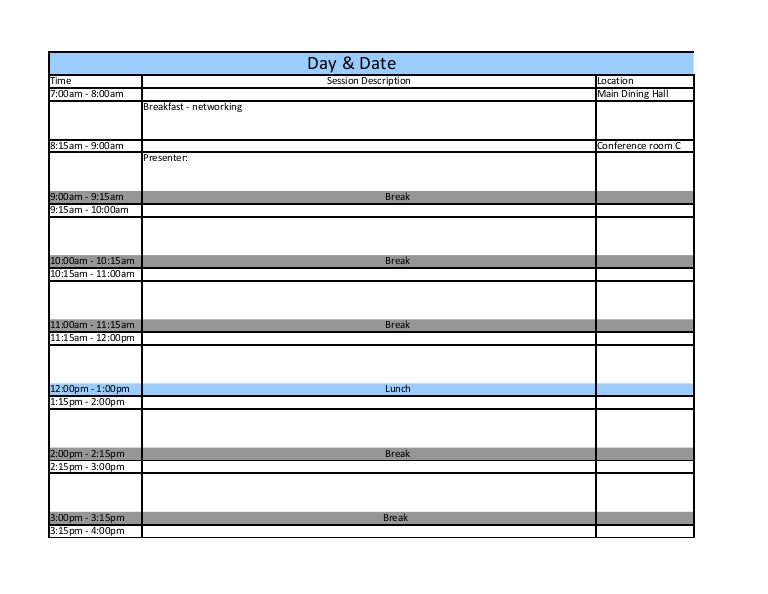 Conference Schedule Template from cdn.slidesharecdn.com