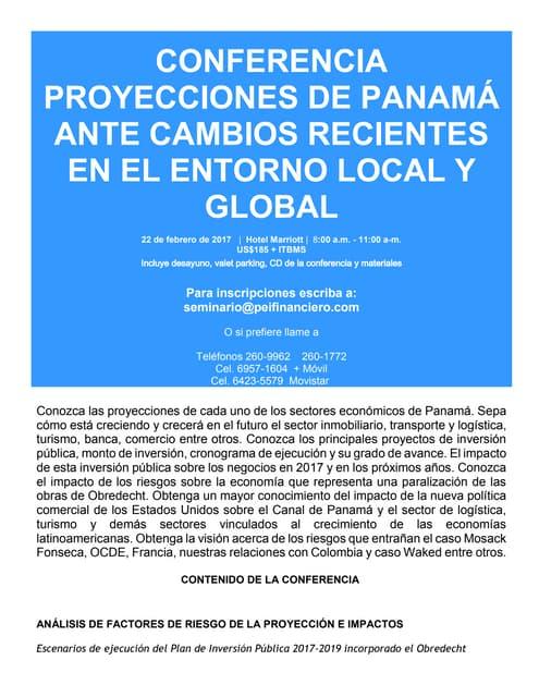 Proyecciones económicas de Panamá