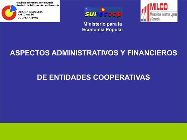Conferencia sobre cooperativas en Venezuela