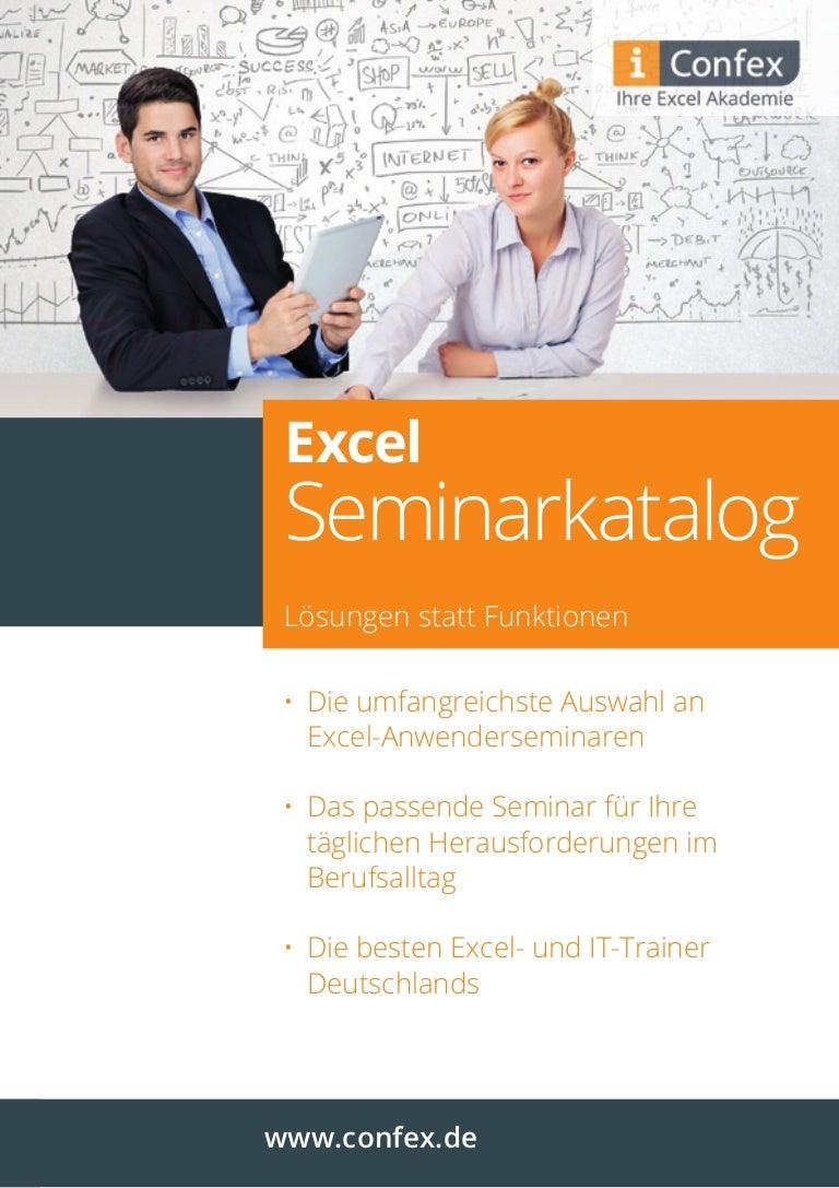 Confex Excel Seminarkatalog