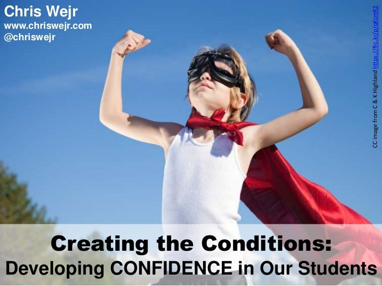 Developing Confidence In Our Students