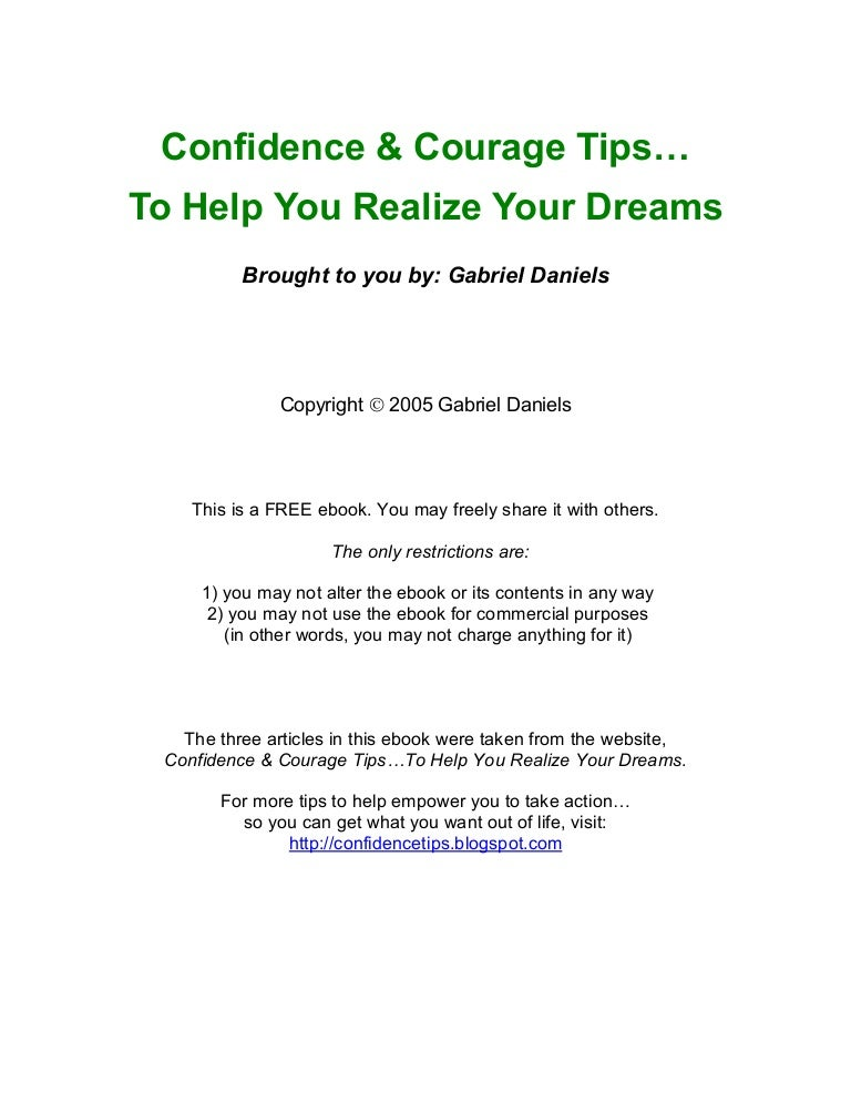 Confidence and couragetips fandeluxe Images