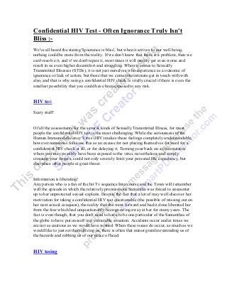 Confidential hiv test