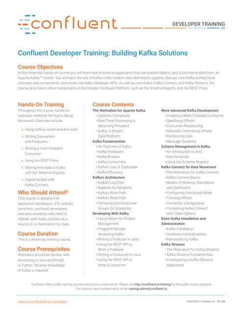 Confluent Developer Training
