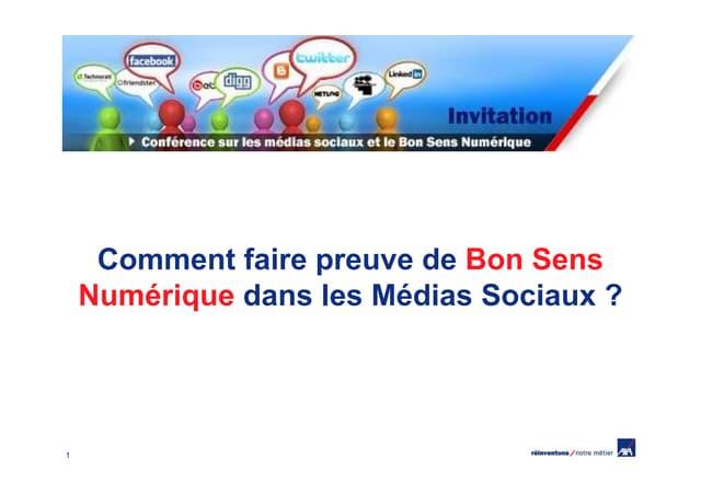 Conférence sur l'usage des médias sociaux pour les collaborateurs d'AXA France