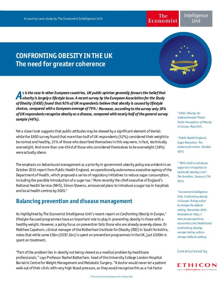 Confronting Obesity In The Uk