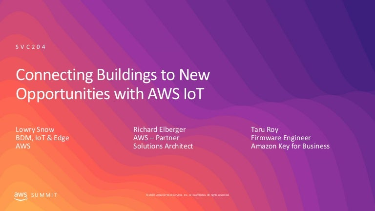 Connecting buildings to new opportunities with AWS IoT