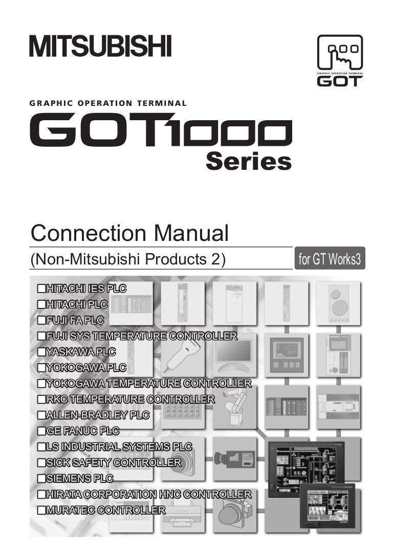 Connection manual (non mitsubishi products 2 for gt works3)